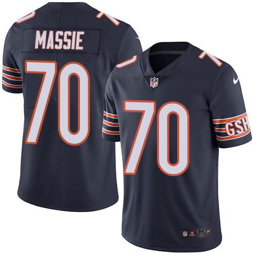 Bobby Massie Nike Chicago Bears Limited Navy Blue Color Rush Jersey