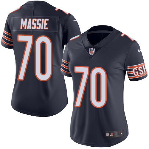 Bobby Massie Women's Nike Chicago Bears Limited Navy Blue Color Rush Jersey