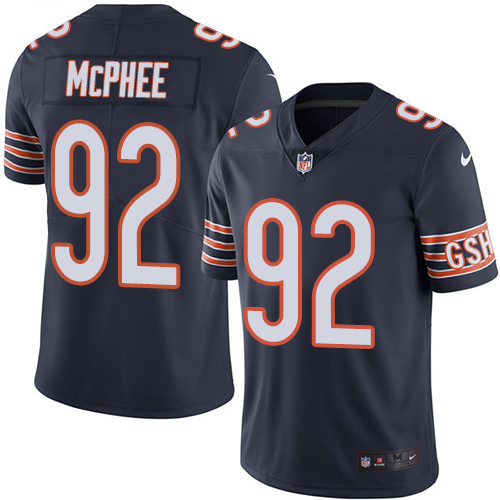 Pernell McPhee Youth Nike Chicago Bears Limited Navy Blue Color Rush Jersey