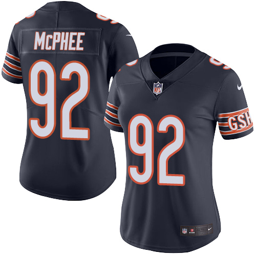 Pernell McPhee Women's Nike Chicago Bears Limited Navy Blue Color Rush Jersey