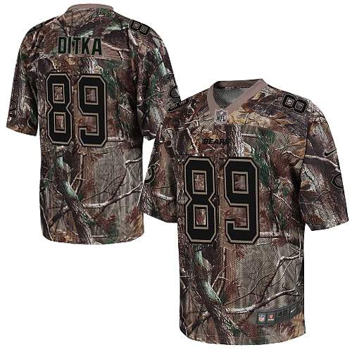 Mike Ditka Nike Chicago Bears Game Camo Realtree Jersey