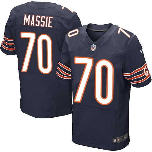 Bobby Massie Nike Chicago Bears Elite Navy Blue Team Color Jersey