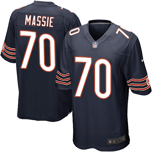 Bobby Massie Nike Chicago Bears Game Navy Blue Team Color Jersey