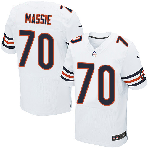 Bobby Massie Nike Chicago Bears Elite White Jersey