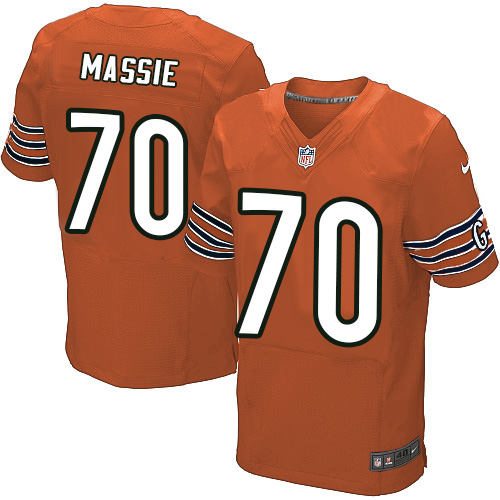 Bobby Massie Nike Chicago Bears Elite Orange Alternate Jersey