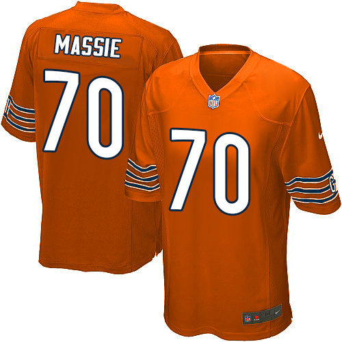 Bobby Massie Nike Chicago Bears Game Orange Alternate Jersey