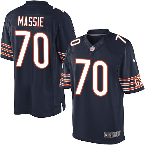 Bobby Massie Youth Nike Chicago Bears Elite Navy Blue Team Color Jersey