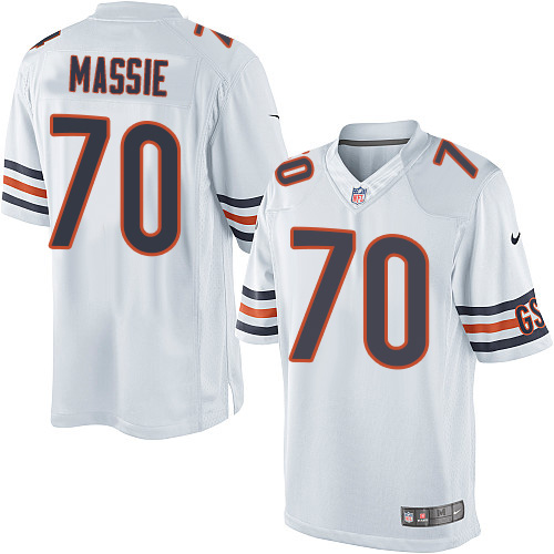 Bobby Massie Youth Nike Chicago Bears Elite White Jersey