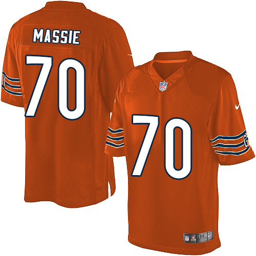 Bobby Massie Youth Nike Chicago Bears Elite Orange Alternate Jersey