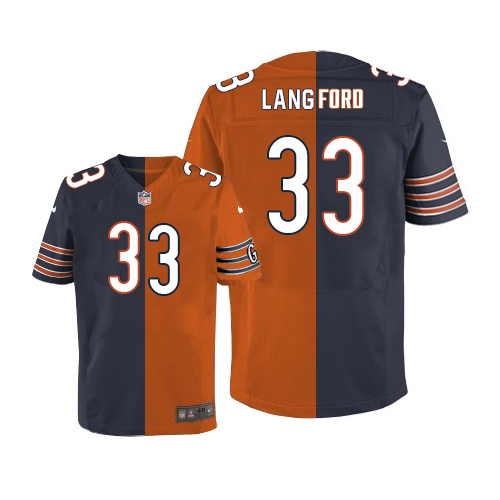 Jeremy Langford Nike Chicago Bears Limited Two Tone Team/Alternate Jersey