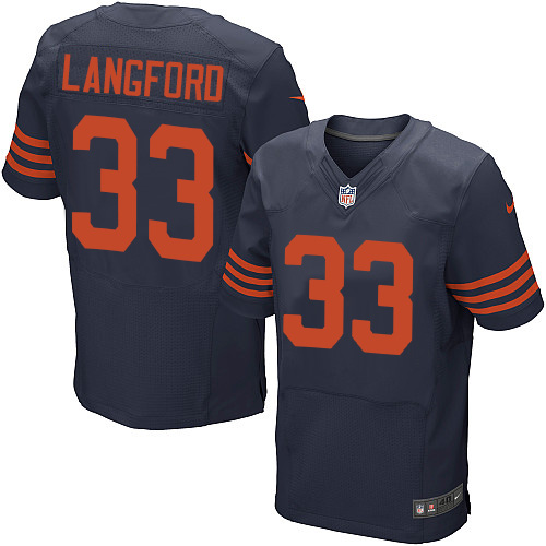 Jeremy Langford Nike Chicago Bears Elite Navy Blue 1940s Throwback Alternate Jersey