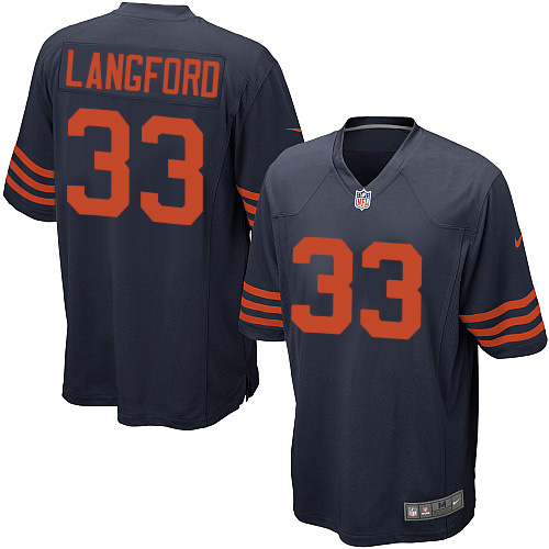Jeremy Langford Nike Chicago Bears Game Navy Blue 1940s Throwback Alternate Jersey