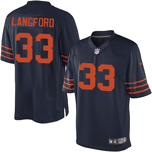 Jeremy Langford Youth Nike Chicago Bears Elite Navy Blue 1940s Throwback Alternate Jersey