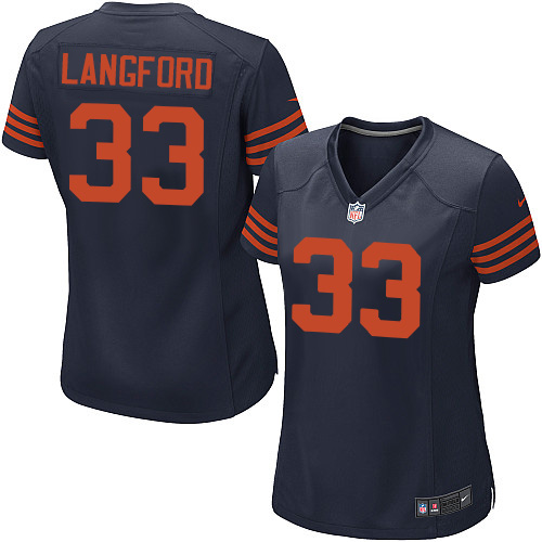 Jeremy Langford Women's Nike Chicago Bears Game Navy Blue 1940s Throwback Alternate Jersey