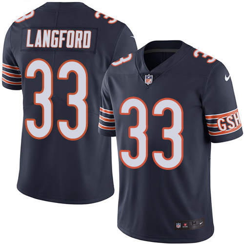 Jeremy Langford Nike Chicago Bears Limited Navy Blue Color Rush Jersey