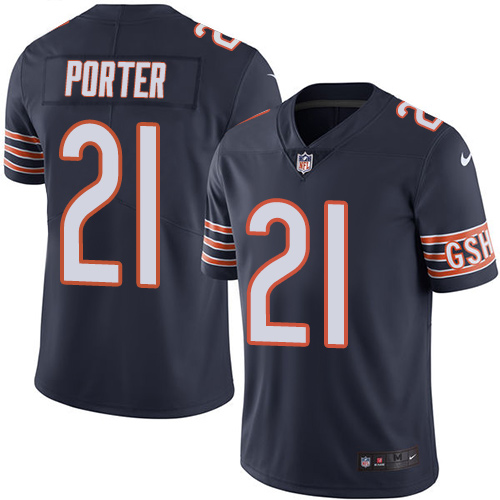 Tracy Porter Youth Nike Chicago Bears Limited Navy Blue Color Rush Jersey