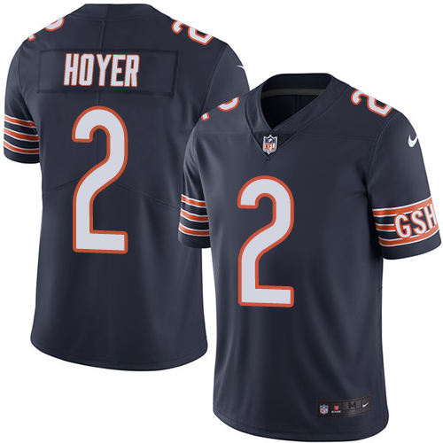 Brian Hoyer Youth Nike Chicago Bears Limited Navy Blue Color Rush Jersey