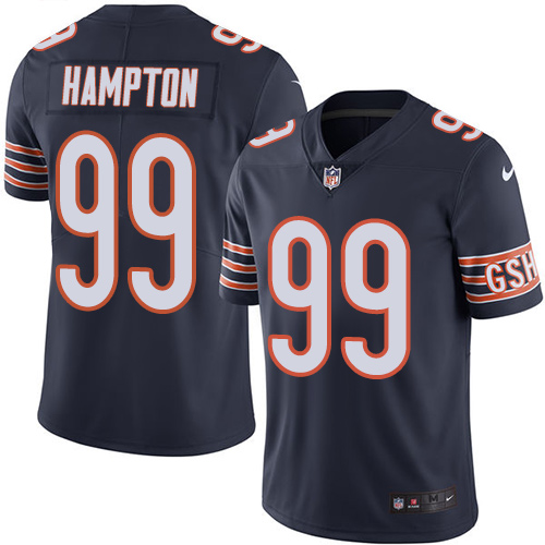 Dan Hampton Nike Chicago Bears Limited Navy Blue Color Rush Jersey