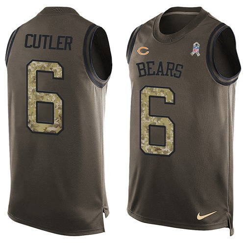 Jay Cutler Nike Chicago Bears Limited Green Salute to Service Tank Top Alternate Jersey