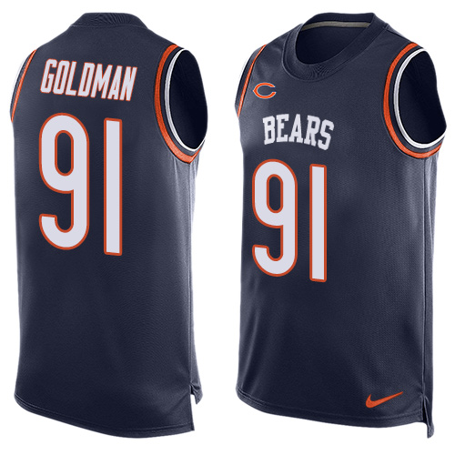 Eddie Goldman Nike Chicago Bears Limited Navy Blue Player Name & Number Tank Top Jersey