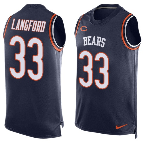 Jeremy Langford Nike Chicago Bears Limited Navy Blue Player Name & Number Tank Top Jersey