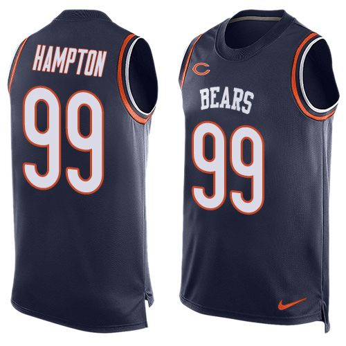 Dan Hampton Nike Chicago Bears Limited Navy Blue Player Name & Number Tank Top Jersey