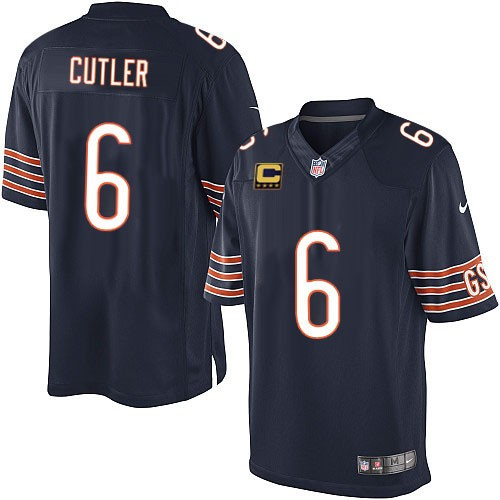 Jay Cutler Nike Chicago Bears Limited Navy Blue Team Color C Patch Jersey