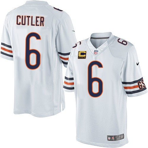 Jay Cutler Nike Chicago Bears Limited White C Patch Jersey