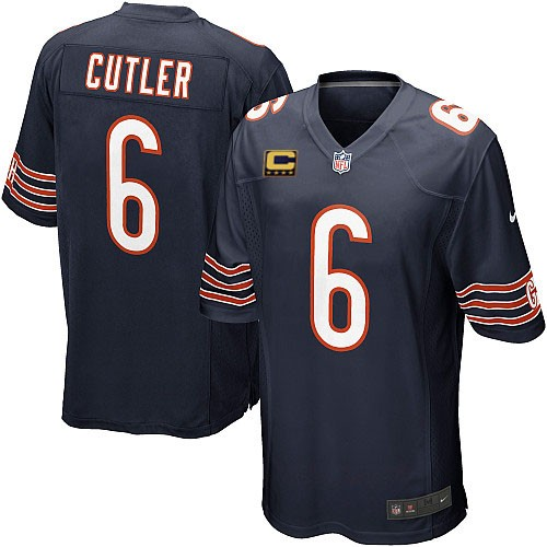 Jay Cutler Youth Nike Chicago Bears Elite Navy Blue Team Color C Patch Jersey