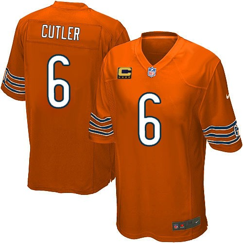 Jay Cutler Youth Nike Chicago Bears Limited Orange Alternate C Patch Jersey