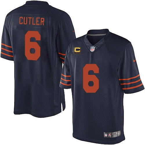 Jay Cutler Nike Chicago Bears Limited Navy Blue 1940s Throwback Alternate C Patch Jersey