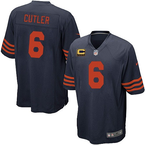 Jay Cutler Youth Nike Chicago Bears Elite Navy Blue 1940s Throwback Alternate C Patch Jersey