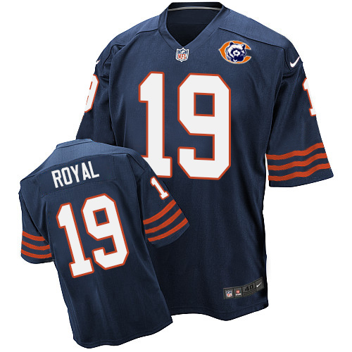 Eddie Royal Nike Chicago Bears Elite Navy Blue Throwback Jersey