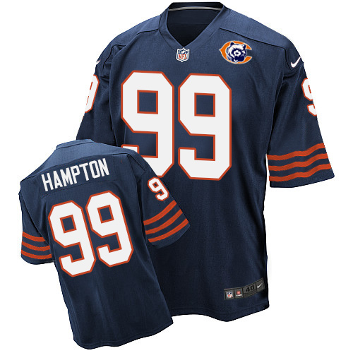 Dan Hampton Nike Chicago Bears Elite Navy Blue Throwback Jersey