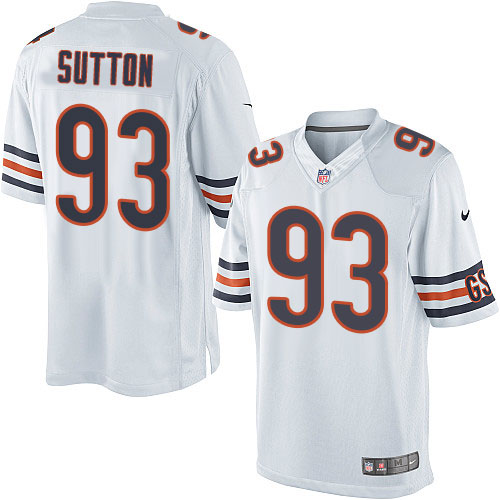 Will Sutton Youth Nike Chicago Bears Elite White Jersey