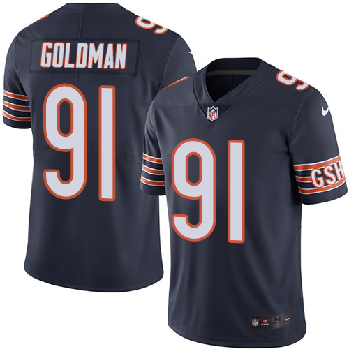 Eddie Goldman Nike Chicago Bears Limited Navy Blue Color Rush Jersey