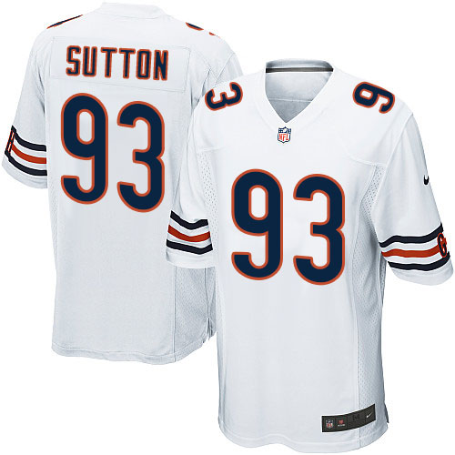 Will Sutton Youth Nike Chicago Bears Game White Jersey