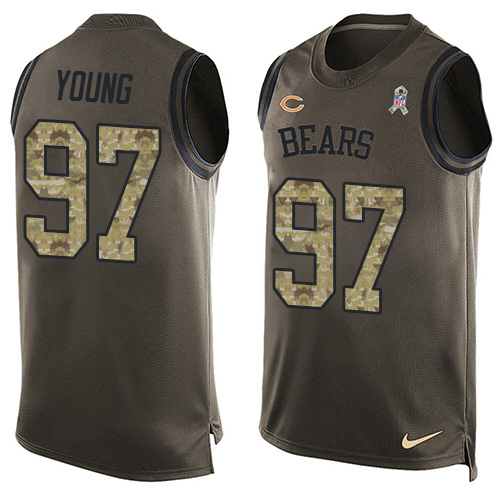 Willie Young Nike Chicago Bears Limited Green Salute to Service Tank Top Alternate Jersey