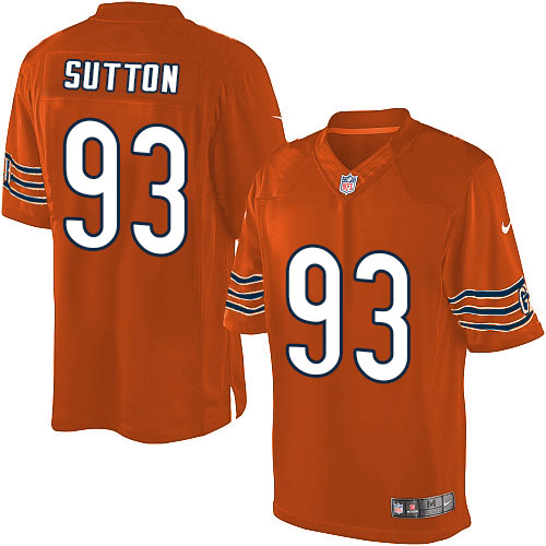 Will Sutton Youth Nike Chicago Bears Limited Orange Alternate Jersey