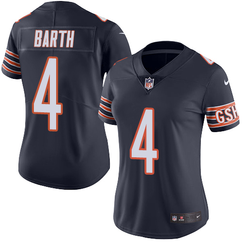 d472409b4 Connor Barth Women's Nike Chicago Bears Limited Navy Blue Color Rush Jersey