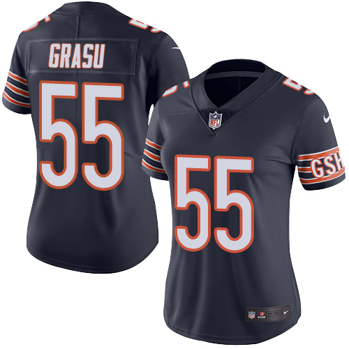 Hroniss Grasu Women's Nike Chicago Bears Limited Navy Blue Color Rush Jersey