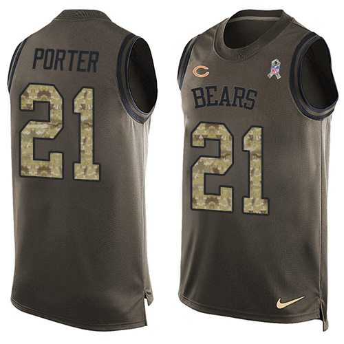 Tracy Porter Nike Chicago Bears Limited Green Salute to Service Tank Top Alternate Jersey