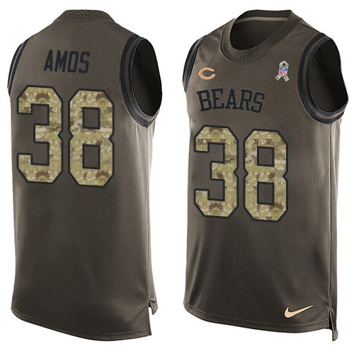 Adrian Amos Nike Chicago Bears Limited Green Salute to Service Tank Top Alternate Jersey