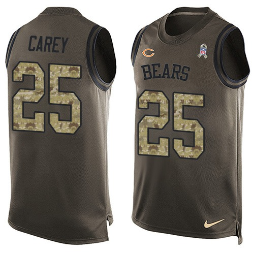 Ka'Deem Carey Nike Chicago Bears Limited Green Salute to Service Tank Top Alternate Jersey