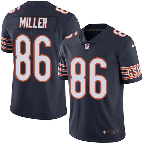 Zach Miller Youth Nike Chicago Bears Limited Navy Blue Color Rush Jersey