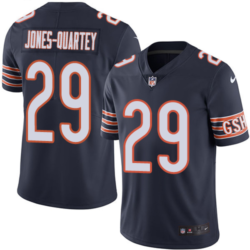 Harold Jones-Quartey Nike Chicago Bears Limited Navy Blue Color Rush Jersey