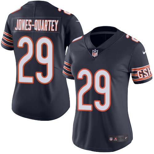 Harold Jones-Quartey Women's Nike Chicago Bears Limited Navy Blue Color Rush Jersey