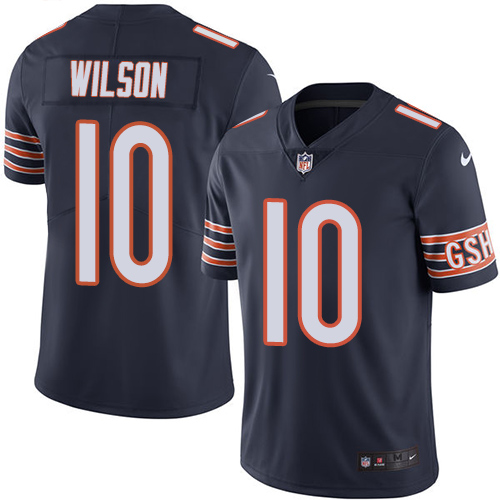 Marquess Wilson Nike Chicago Bears Limited Navy Blue Color Rush Jersey