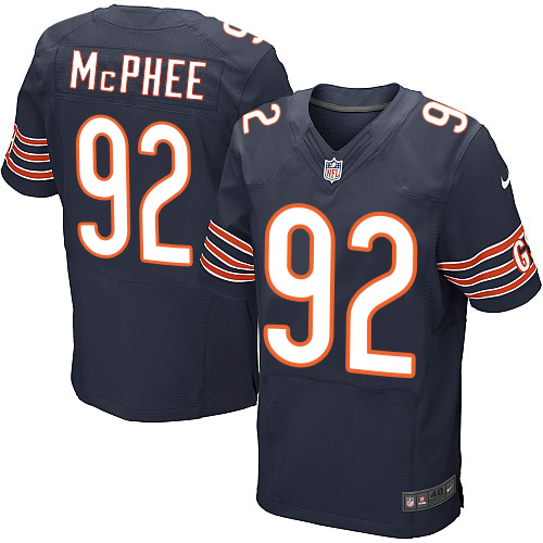 Pernell McPhee Nike Chicago Bears Elite Navy Blue Team Color Jersey