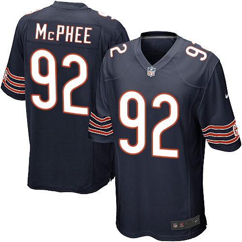 Pernell McPhee Nike Chicago Bears Game Navy Blue Team Color Jersey